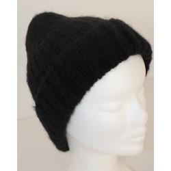 Bonnet mohair et soie noir