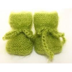 Chaussons pour bébé - anis