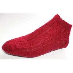 Socquettes en mohair - rouge foncé
