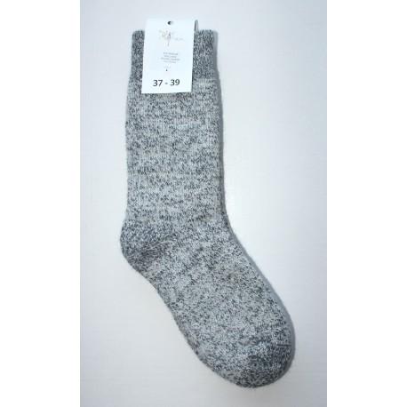 Chaussettes en mohair et laine - gris