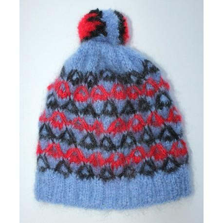 Bonnet croisé bleuet
