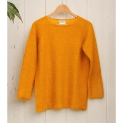 Pull col rond mangue