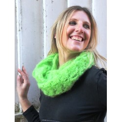 Snood coquilles vert pomme