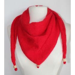 Chèche en jersey rouge vif