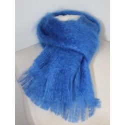 Echarpe tissée bleu denim